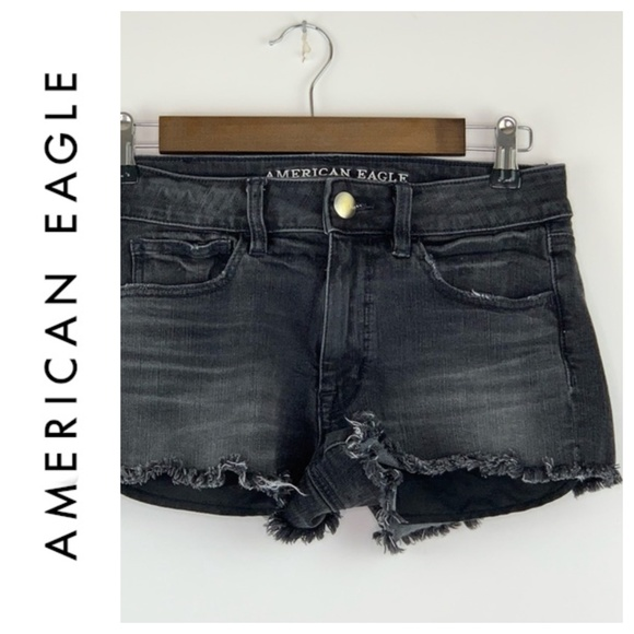 American Eagle Outfitters Pants - American Eagle High Rise Shortie Distressed 6